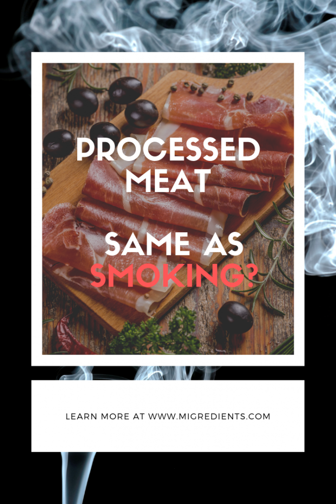 Avoid nitrous in processed meat