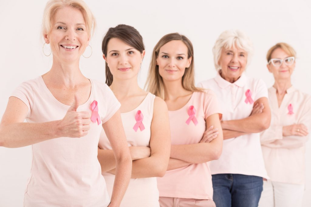 Pink ribbons in cancer research support