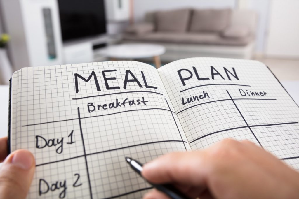 Meal planning in a book