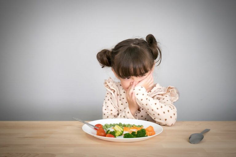 Kid not wanting to eat vegetables